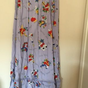 Long skirt with writing design